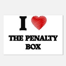 I love The Penalty Box Postcards (Package of 8)