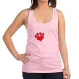 Dog rescue Womens Racerback Tanktop