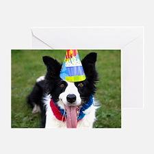 Unique Border collie birthday Greeting Card