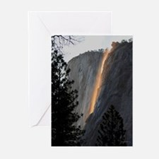 Yosemite Fire Fall Greeting Cards