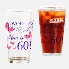 Cute Worlds best cheer mom Drinking Glass