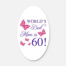 Cute Mother Oval Car Magnet