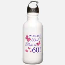 60th Birthday For Mom Water Bottle
