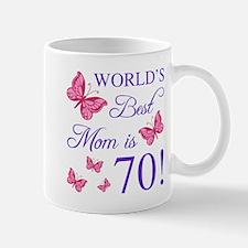 70th Birthday For Mom Mugs