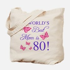 Cute 80th birthday Tote Bag