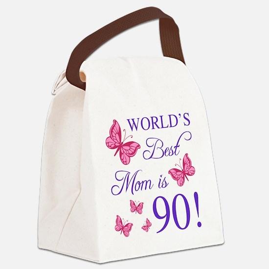 Cute 90th birthday Canvas Lunch Bag