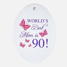Cool 90th birthday Oval Ornament