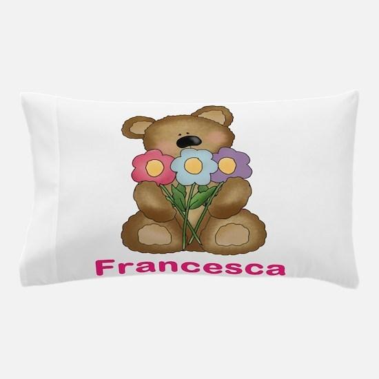 Francesca's Bouquet Bear Pillow Case