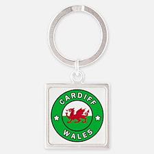 Unique Cymraeg Square Keychain