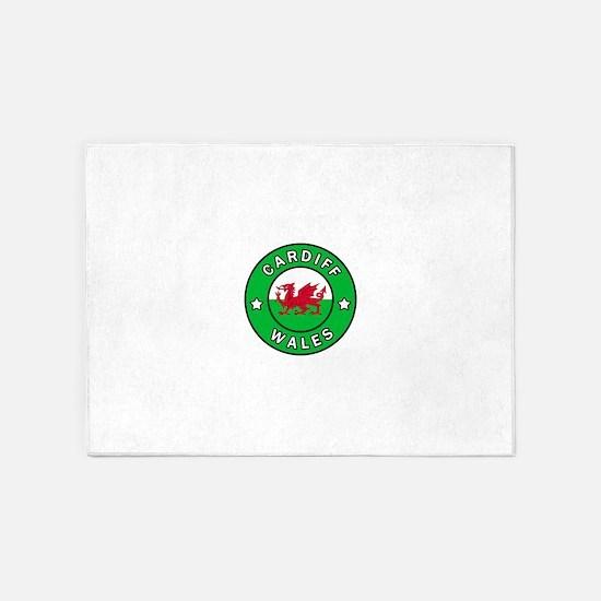 Cardiff Wales 5'x7'Area Rug