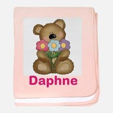 Daphne's Bouquet Bear baby blanket