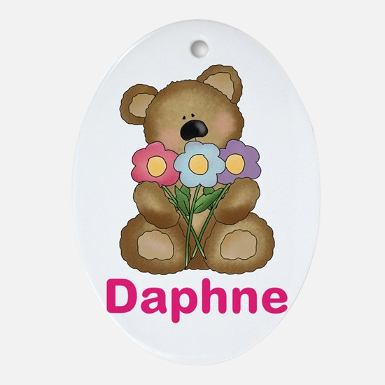 Daphne's Bouquet Bear Oval Ornament