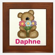 Daphne's Bouquet Bear Framed Tile