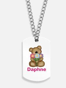 Daphne's Bouquet Bear Dog Tags