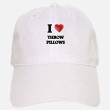 I love Throw Pillows Baseball Baseball Cap