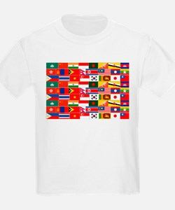 Asian Flags T-Shirt