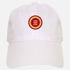 Red and Gold School Colors or Team Stripes to Baseball Baseball Cap