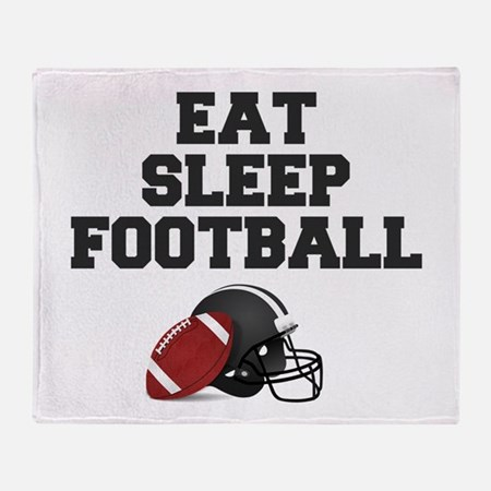 Eat Sleep Football Throw Blanket