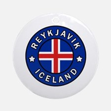 Cool Iceland Round Ornament