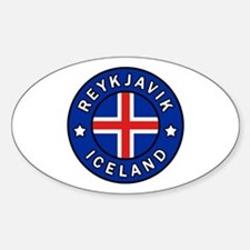 Cute Flag of iceland Sticker (Oval)