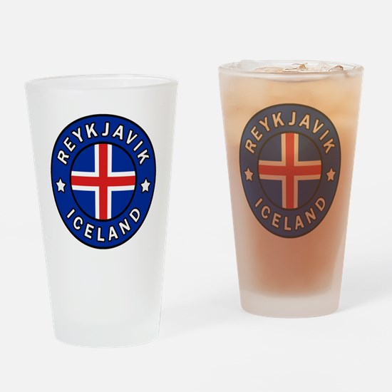 Cute Iceland Drinking Glass