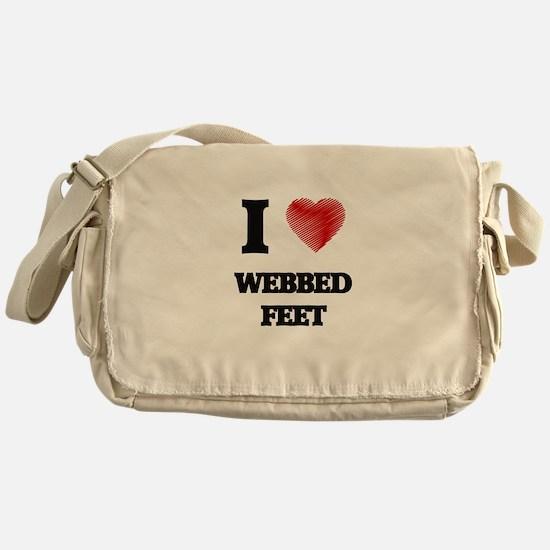 I love Webbed Feet Messenger Bag