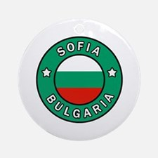 Cute Burgas Round Ornament