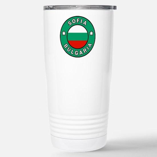 Sofia Bulgaria Stainless Steel Travel Mug