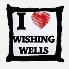 I love Wishing Wells Throw Pillow