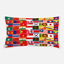 Asian Flags Pillow Case