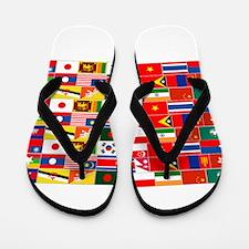 Asian Flags Flip Flops