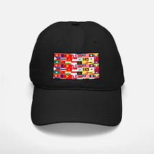 Asian Flags Baseball Hat
