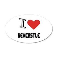 I Love Newcastle City Wall Decal