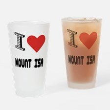 I Love Mount Isa City Drinking Glass