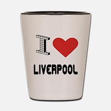 I Love Liverpool City Shot Glass