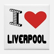 I Love Liverpool City Tile Coaster