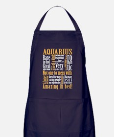 Cute Aquarius Apron (dark)