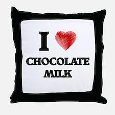I love Chocolate Milk Throw Pillow