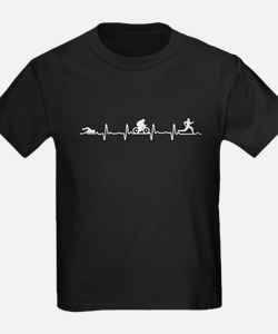 I Love Triathlon Heartbeat T-Shirt
