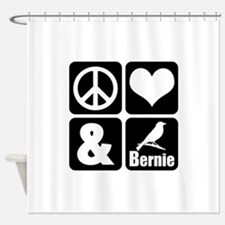 Peace Love Bernie Shower Curtain