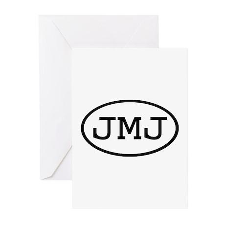 JMJ Oval Greeting Cards (Pk of 10)