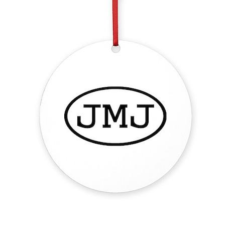 JMJ Oval Ornament (Round)