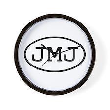 JMJ Oval Wall Clock