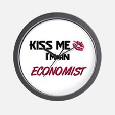 Kiss Me I'm a ECONOMIST Wall Clock