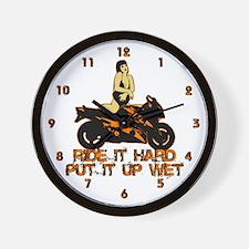 Ride it Hard Wall Clock