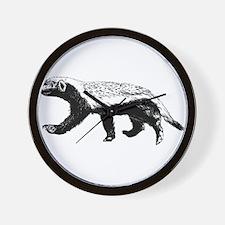 Honey Badger Trott Wall Clock
