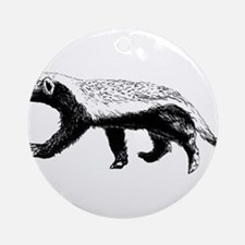 Honey Badger Trott Round Ornament