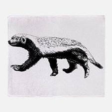 Honey Badger Trott Throw Blanket