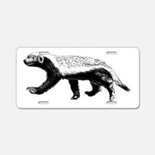 Honey Badger Trott Aluminum License Plate