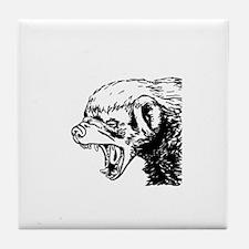 Honey Badger Scream Tile Coaster